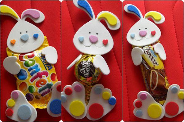 coelhinhos porta chocolates