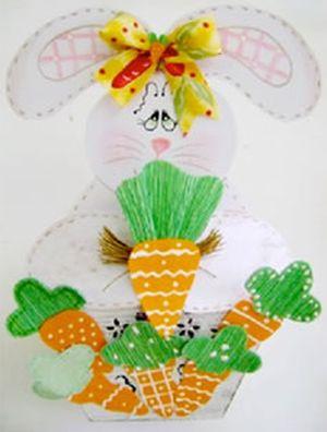 Este cachepot de Páscoa em MDF é lindo e fará o maior sucesso em sua casa (Foto: Divulgação)