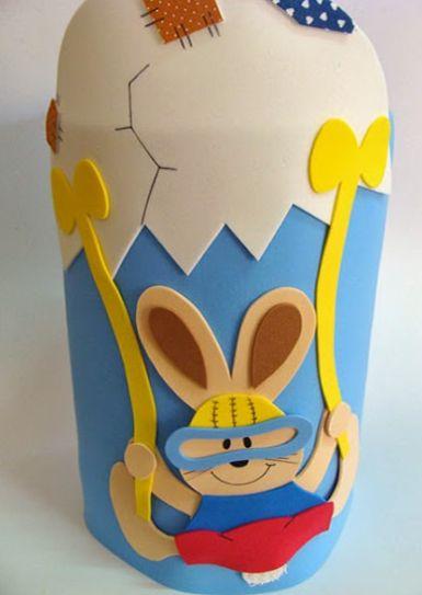 Este coelhinho paraquedas pode ser utilizado para qualquer tipo de artesanato (Foto: Divulgação)
