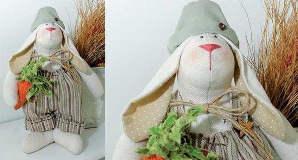Este coelho de algodão pode até virar peça de decoração da sua casa (Foto: Divulgação)