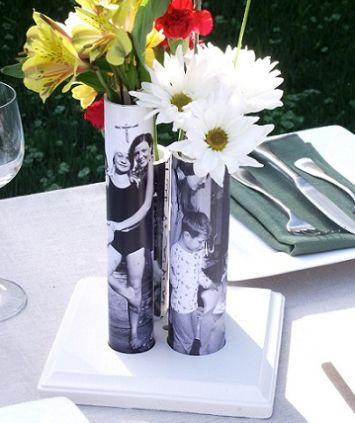 Faça estes vasos decorados com fotos para dia das mães e receba muitos aplausos e elogios (Foto: Divulgação)