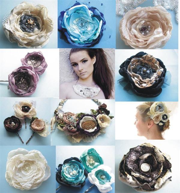 flores de retalhos usados