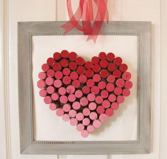 Este artesanato com rolhas para o dia dos namorados encantará o seu amor (Foto: Divulgação)
