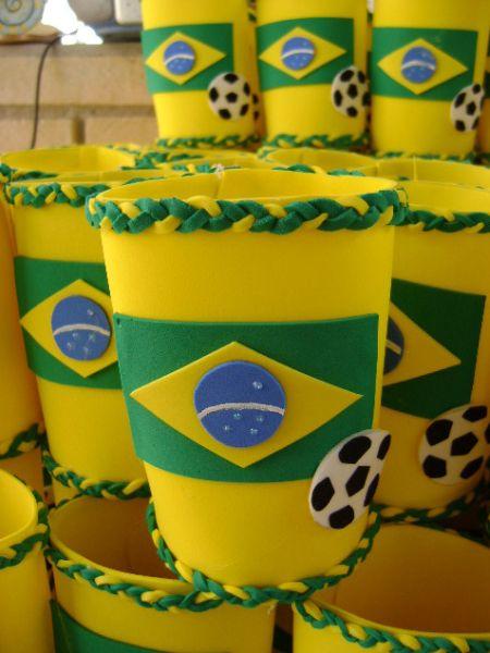 Artesanato Passo A Passo Com Garrafa Pet ~ Artesanato para Copa em EVA Artesanato Passo a Passo!