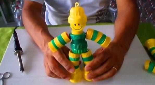 Aparador Bar Bechara ~ Boneco de Tampas do Brasil Passo a Passo Artesanato Passo a Passo!