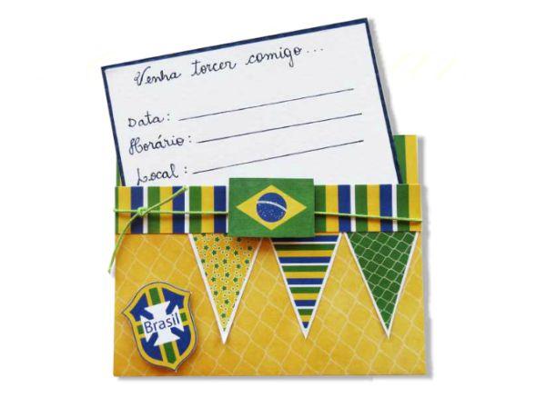Este sofisticado convite para Copa do Mundo surpreenderá os seus entes queridos já no momento de convidar (Foto: Divulgação)
