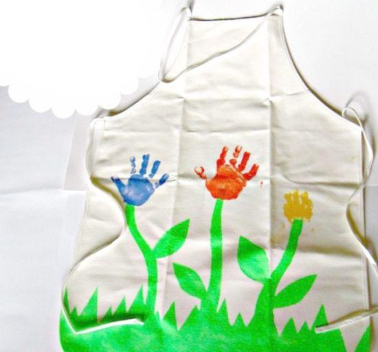 Faça este avental de flores para o dia das mães e encante a sua mãe (Foto: Divulgação)