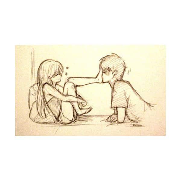 desenho de namorados