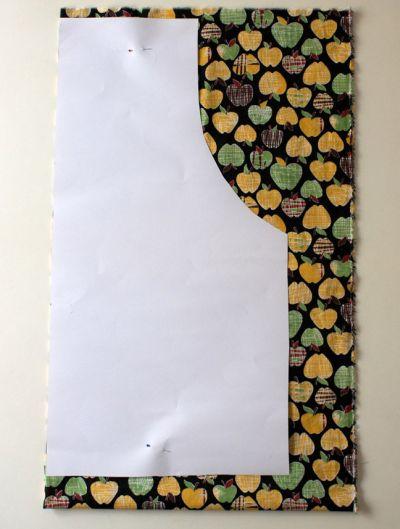Avental em patchwork passo a passo pega