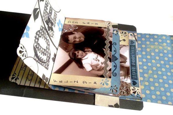 Siga estas artesanato com scrapbooking para dia dos pais e desenvolva uma peça exclusiva para seu pai (Foto: tkcrie.blogspot.com.br)