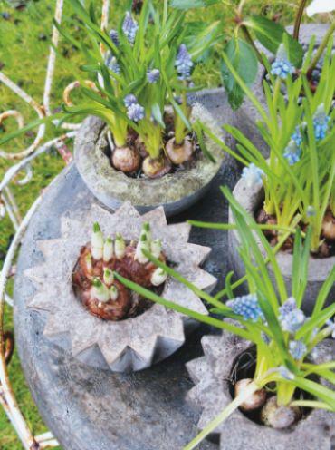 Fazer um vaso de concreto para decorar seu jardim pode ser mais fácil do que você imagina (Foto: decoracaofacil.com)
