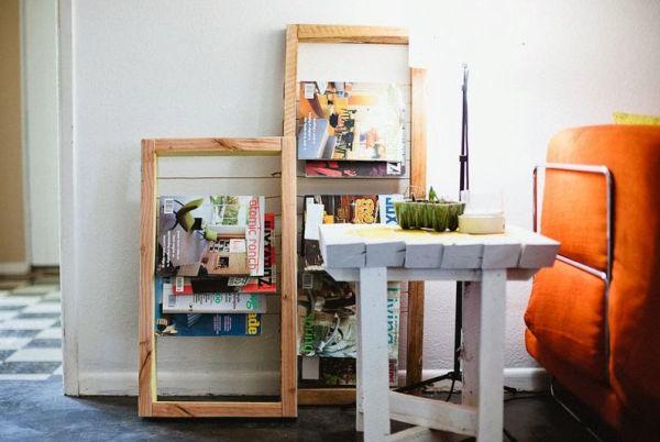 Faça este revisteiro de madeira e deixe os cantinhos de sua casa melhor decorados (Foto: casadefifia.blogspot.com.br)