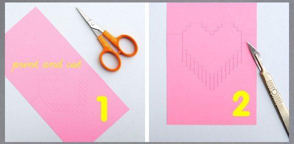 cartão namorados rosa
