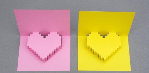 cartão namorados simples de fazer