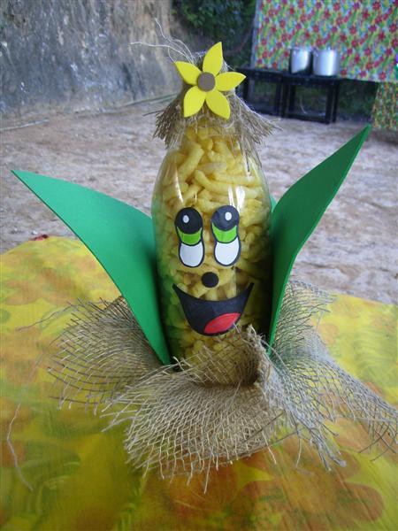 Artesanato para festa junina com garrafa pet Artesanato Passo a Passo! -> Decoracao Festa Junina Garrafa Pet
