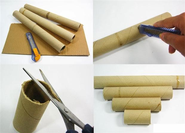 Adesivo Formatura Personalizado ~ Artesanato com rolo de papel toalha passo a passo Artesanato Passo a Passo!