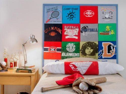 Se você está buscando uma cabeceira diferente faça esta, uma cabeceira de cama com camisas (Foto: howtoinstructions.org)