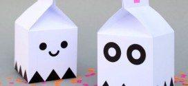 Caixa Milk Fantasma Passo a Passo com Molde