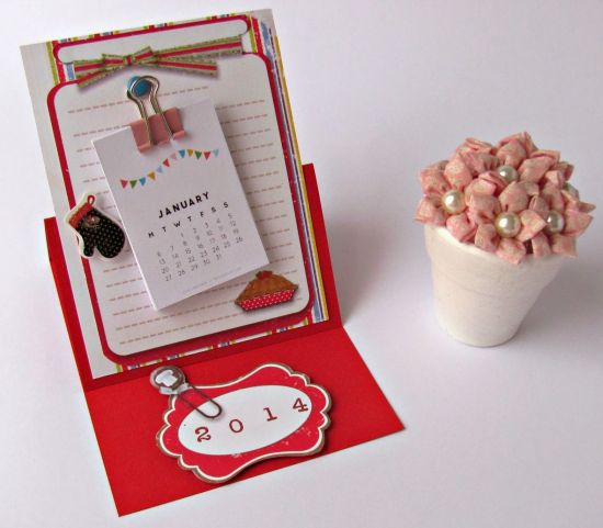 Este calendário de cozinha deixará o décor de sua casa muito mais bonito (Foto: tkcrie.blogspot.com.br)