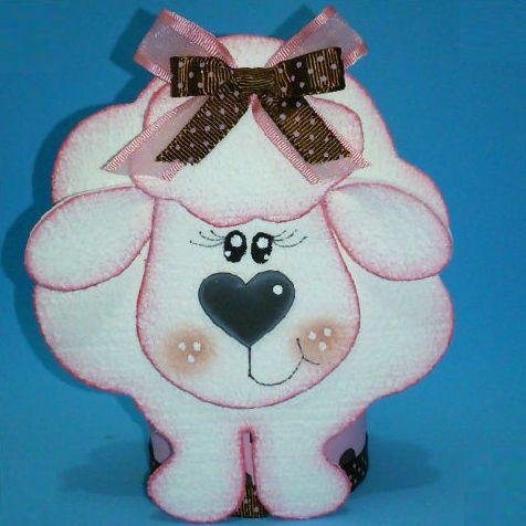 Esta linda lembrança de ovelhinha além de fofa é sustentável (Foto: sinimbu.com.br)