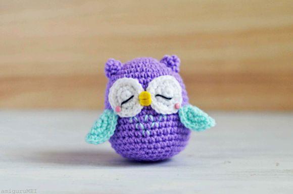 Free Crochet Pattern Owl Family : Passo a Passo de Coruja de Croch? - Artesanato Passo a Passo!