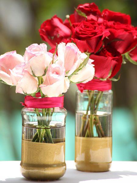 Este vaso com pintura que imita ouro deixará muito mais sofisticado o visual de seus ambientes (Foto: casa.abril.com.br)