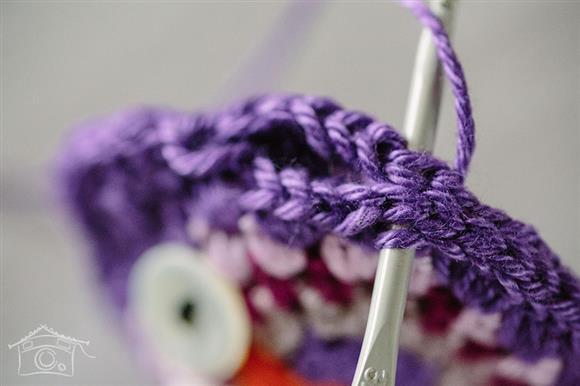 coruja de croche espiral