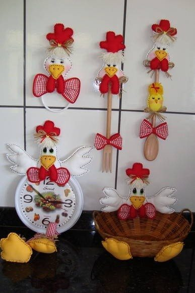 Aparador Moderno Comedor ~ 10 modelos de artesanatos com galinhas Artesanato Passo a Passo!