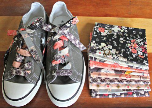 Com este cadarço para tênis personalizado mesmo os seus looks mais basiquinhos vão ganhar fôlego novo (Foto: artgalleryfabrics.typepad.com)
