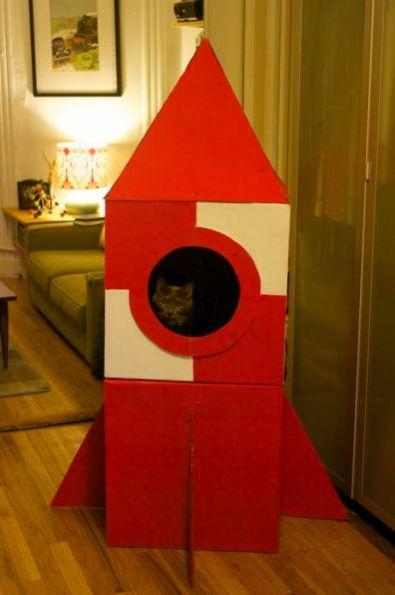 Esta casa foguete vai deixar o seu gato muito feliz (Foto: makezine.com)