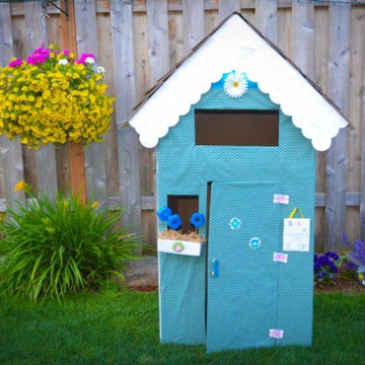 Esta casa infantil de papelão vai deixar a sua menina muito feliz (Foto: kixcereal.com)