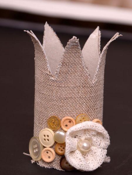 Esta coroa infantil com rolo de papel vai deixar a sua princesa ainda mais linda (Foto: krokotak.com)