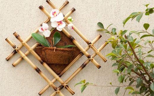 enfeites para jardim passo a passo:Enfeite de Planta com Bambu Passo a Passo