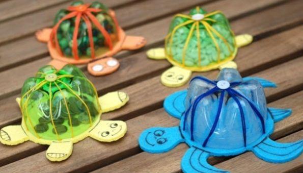 Com esta ideia de tartaruga com garrafa pet não serão somente as crianças que irão se encantar (Foto: goodshomedesign.com)