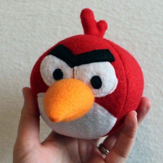 Faça este Angry Birds de feltro e deixe seus pequenos muito mais alegres (Foto: obsessivelystitching.blogspot.com.br)