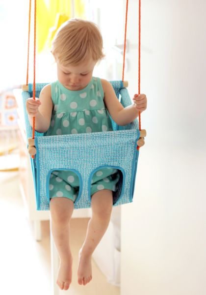 Este balanço para bebê vai deixar seu filho muito mais animado (Foto: pinjacolada.com)