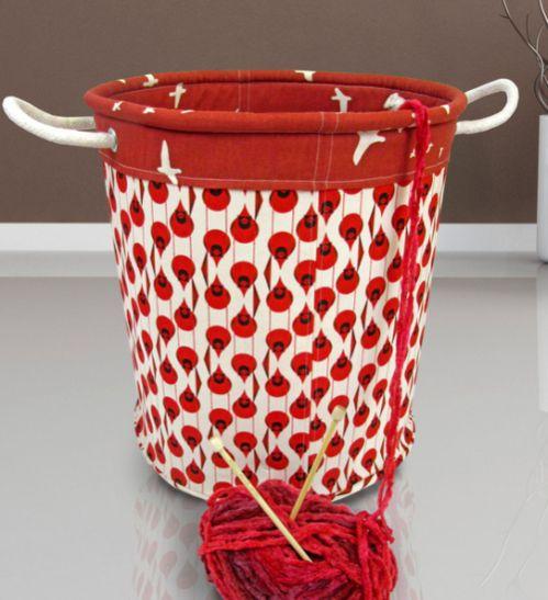 Ganhe também um bom dinheiro vendendo esta linda cesta de tecido decorativa (Foto: sew4home.com)
