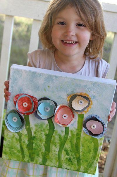 Fazer um quadro com crianças além de divertido vai deixar a sua casa mais bonita (Foto: multiplesandmore.com)
