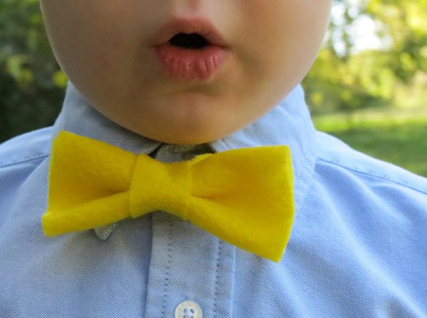 Esta fofa gravata borboleta de feltro vai deixar o seu filho ainda mais lindinho (Foto: realpurdy.com)