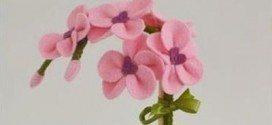 Orquídea em Feltro Passo a Passo