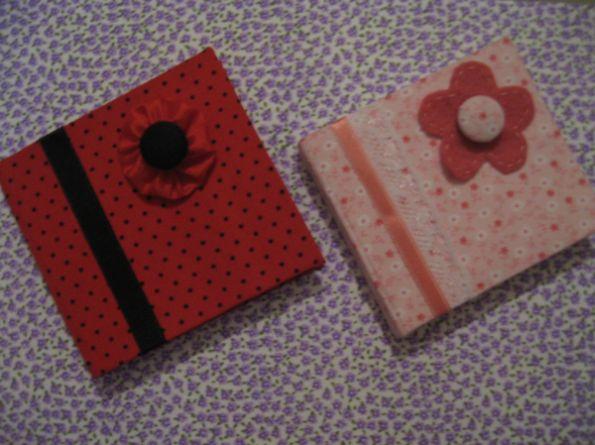 Este bloquinho com capa de tecido é fofo e ótima opção de presente (Foto: amocraft.blogspot.com.br)