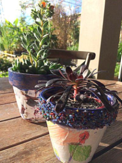 Personalizar vaso de planta vai deixar seu jardim mais bonito (Foto: beafunmum.com)