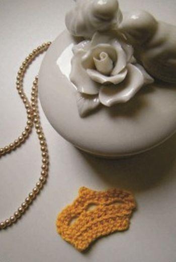 Esta coroa de crochê pode decorar qualquer local (Foto: bananacraft.com)