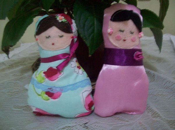 Esta matrioska de tecido vai encantar a todas que a virem (Foto: natalydebiase.com)