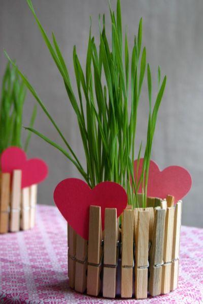 Vasinho de pregador é lindo e fácil de fazer (Foto: cfabbridesigns.com)