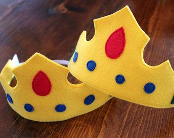 coroa de feltro pequeno principe