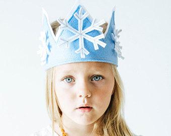 coroa de feltro frozen