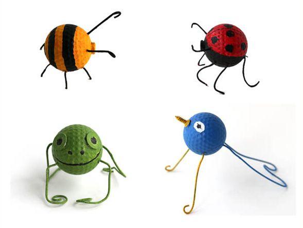 Este artesanato com bolinha de golf vai fazer o maior sucesso em sua casa (Foto: empressofdirt.net)