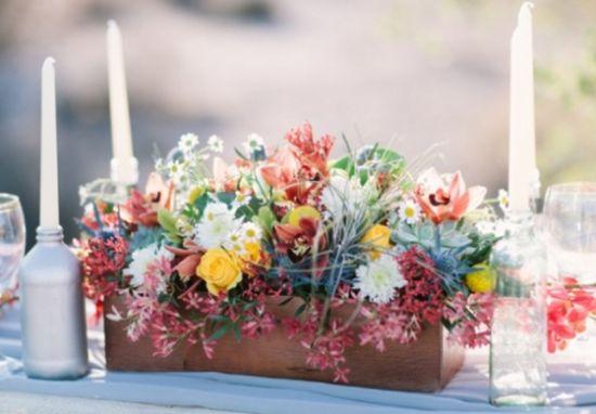 Ideias para centro de mesa em madeira para casamento for Mesa de centro grande