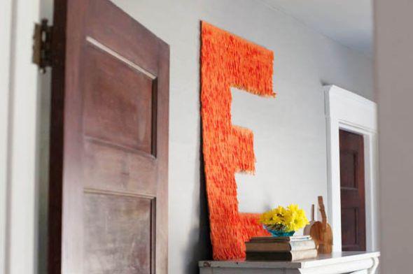Seus espaços vão ficar lindos com estas letras grandes decoradas (Foto: thesweetestoccasion.com)